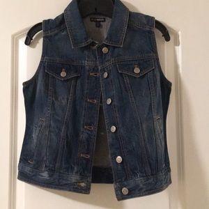 Express Jackets & Coats - Express Denim Vest